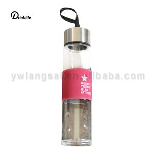 Wholesale 450 ml glass water bottle home bottle student portable water bottle