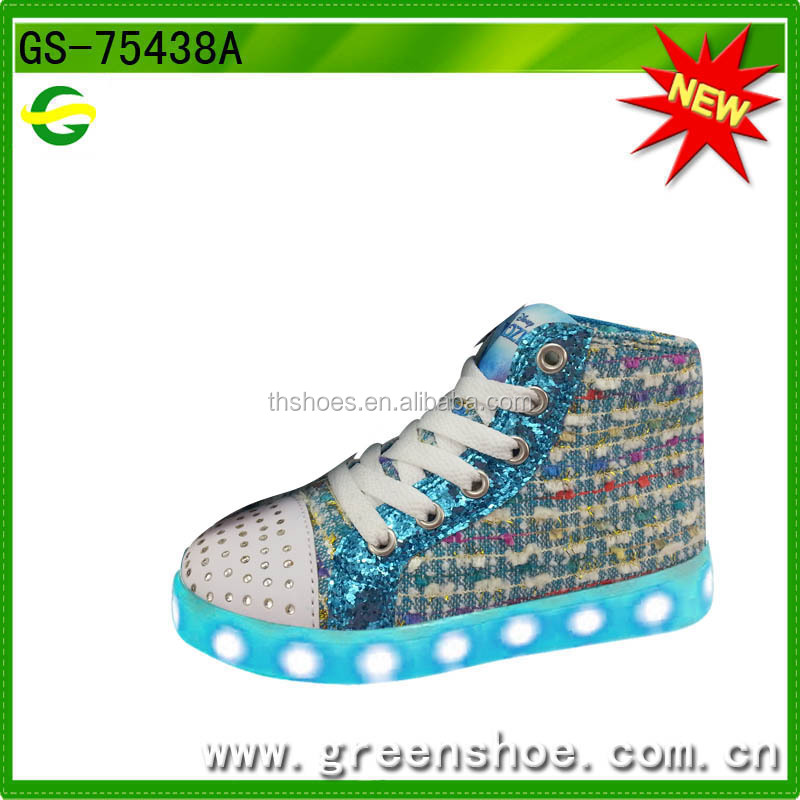 New design usb rechargeable shoes with led light for girls led zapatos