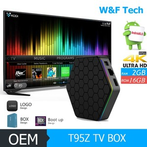OEM ODM amlogic octa core s912 root access android 7 1 Smart tv box 2GB RAM  16GB ROM Set Top Box t95z plus ott tv box