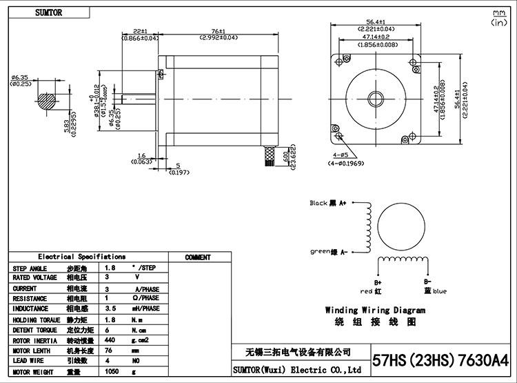 Cnc 3040 Stepper Kit 76mm 3a Nema 23 Stepper Motor