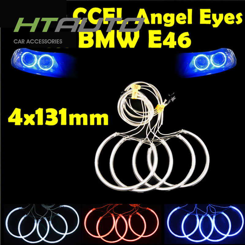 HTAUTO 60mm 80mm 90mm 100mm 115mm 120mm 160mm CCFL Angel Eyes Halo Ring for B MW E 46