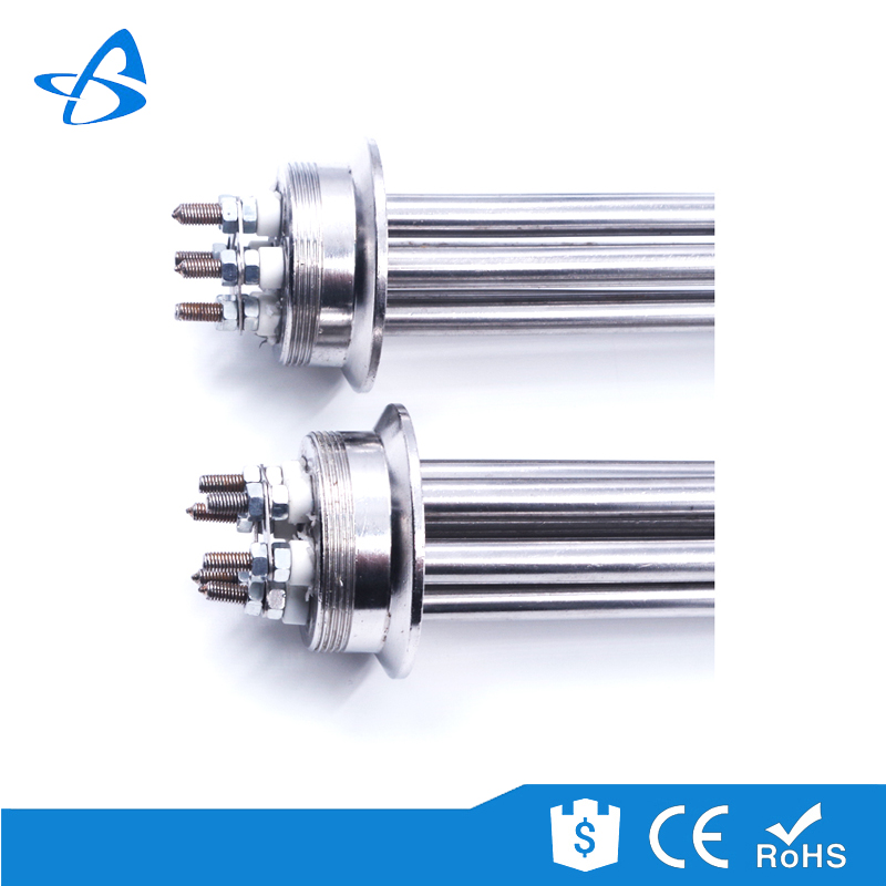 "CE Approved Customized Stainless Steel Shell Electric Water Tubular Heating Element 2"" Tri Clamp Immersion Heater"