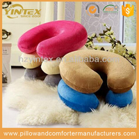 Latest Style simple classic design wholesale foam filling neck support travel pillow