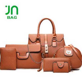 24e6061d2df6 JIANUO woman bag set 2018 fashion luxury designer handbags set bag 6 in 1  set