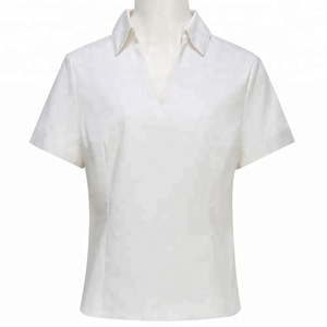 Fashion White Lady Office Wear Blouse Unique Ladies Working Shirt From China Supplier