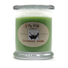 Coconut Lime Scented Candle, Natural Soy Jar Candle with Lid