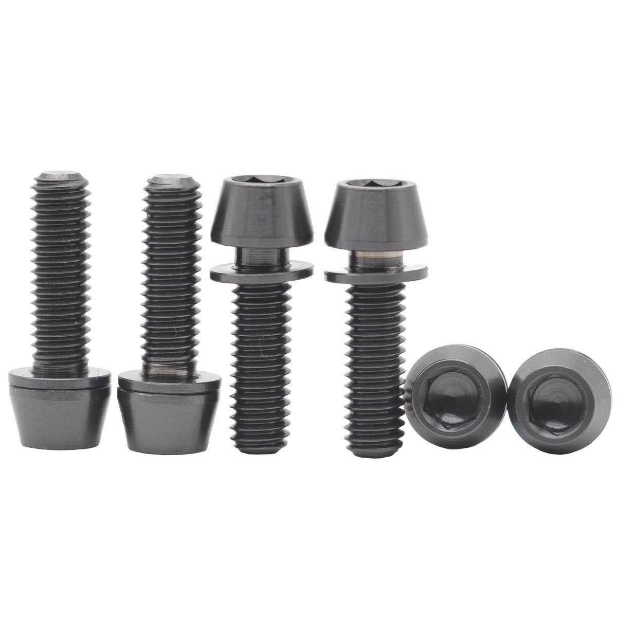 FidgetFidget Bolts Titanium Cone Taper Washer 6X M6X20 Black