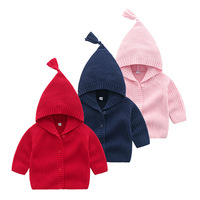 Ivy10077B Kids cardigan sweater coats for baby children hooded knitted cardigan girls in Spring Autumn