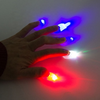 Halloween Simulation Lights Nails Party Fingers Sets Nails Finger Covers Toys For Children Gifts