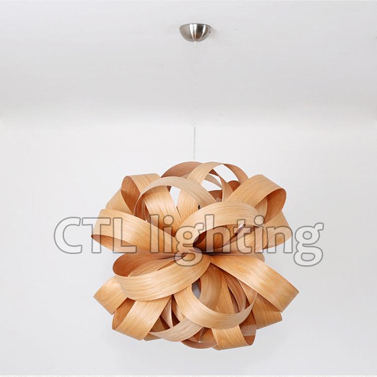 Decoração do casamento de madeira natural lâmpadas penduradas lustres artesanais modernas luzes do pendente
