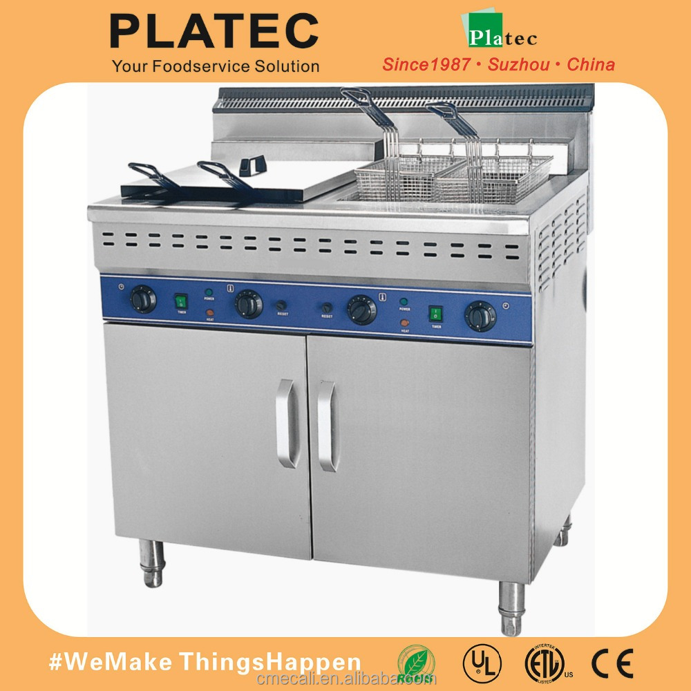 Hot Sale Commercial Use 110V 220V Electric Deep Fryer with 2 Tanks and 2 baskets