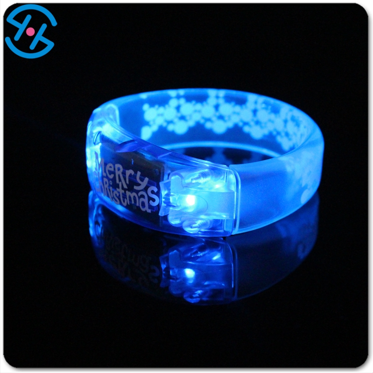 Beautiful Snowflake light up wristbands LED lighting shining party gadgets