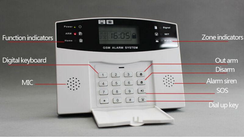 Remote Control Z Wave Gsm Alarm Security Alarm System