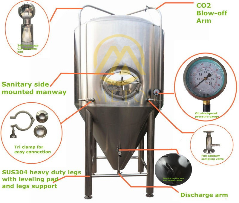 Micro Beer Restaurant Brewing Equipment Brewery System For
