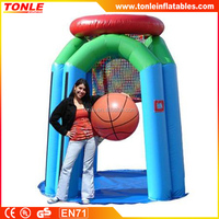 Giant Basketball Hoop Interactive game Inflatable, inflatable basketball court