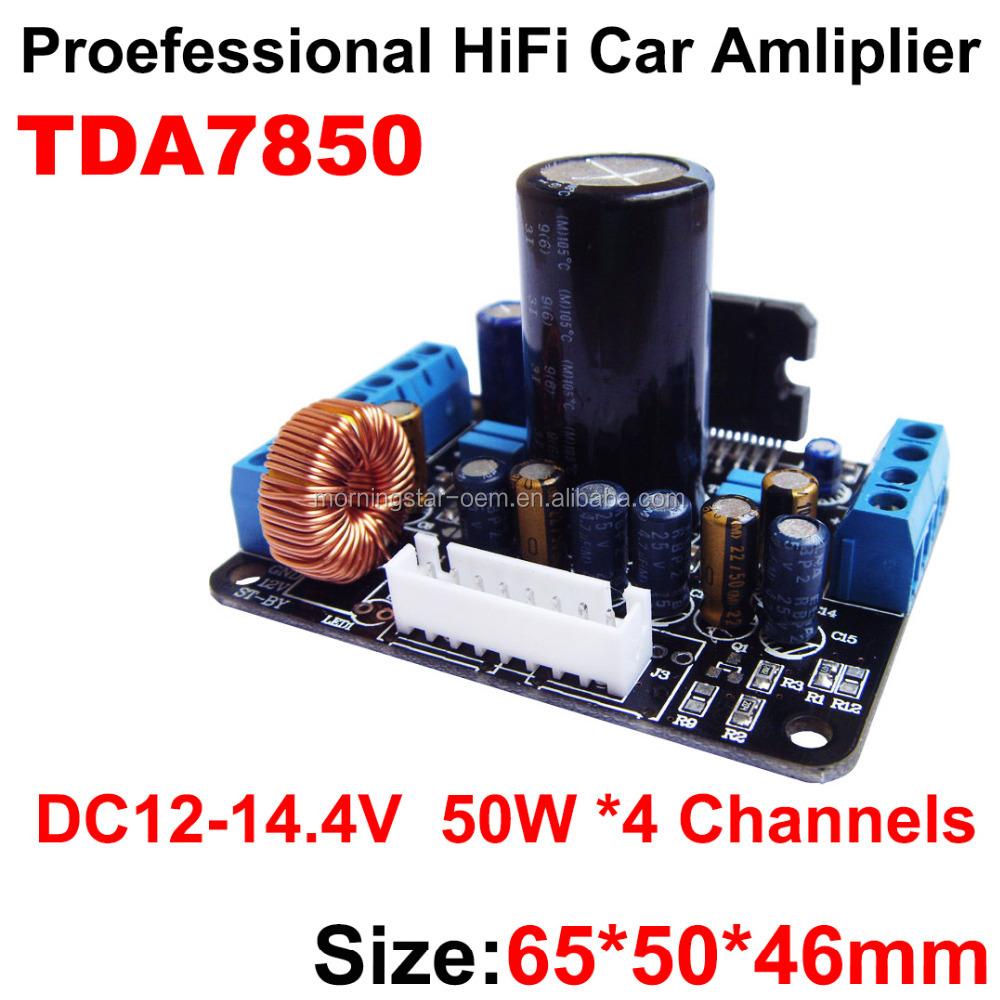 Simple power amplifier 4x50 W 56
