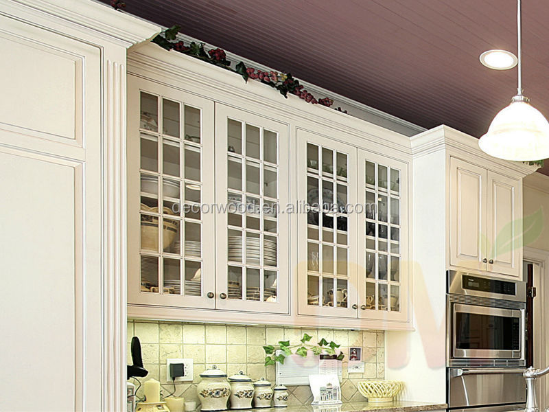 2014 Wooden Design Mullion Glass Door Kitchen Cabinet Glass Doors For Sale Buy Kitchen Cabinet