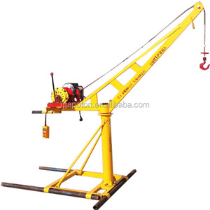 Small Crane Equipment Construction Material Lifting Tools 500kg Hoist Roof Machine