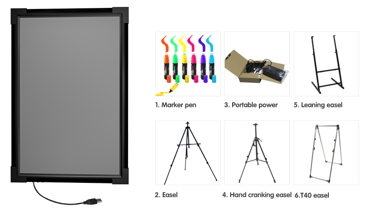 12v Led Light Up Board Design For Shop Adveritsing