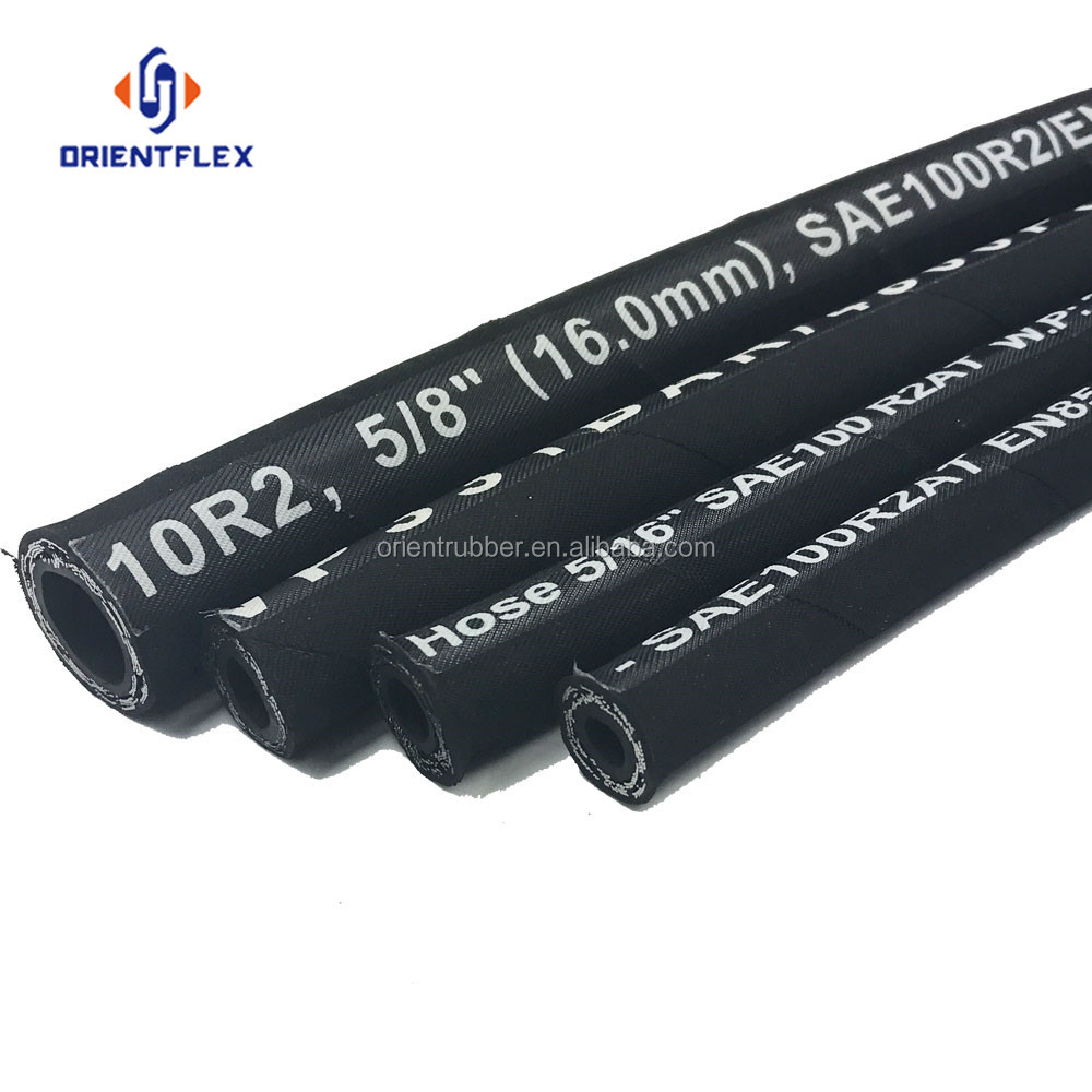 flexible rubber hydraulic hoses high pressure hose 1sn 2sn from 215 bar