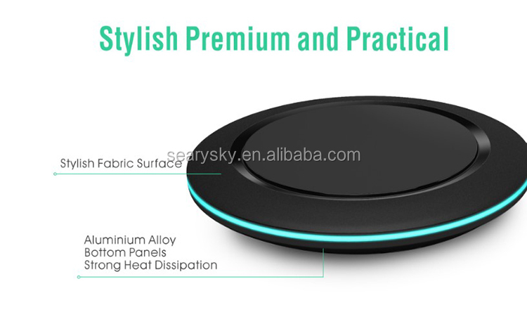 Popular wireless charger adapter with 360-degree circular indicator light