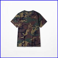 Latest casual fashion designde camouflage fabric short sleeve couple t shirts