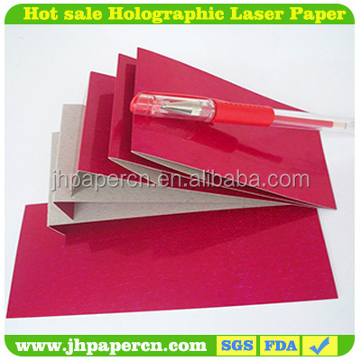 157g-475g Color Lacquered Holographic Metallized Polyester Film Paper