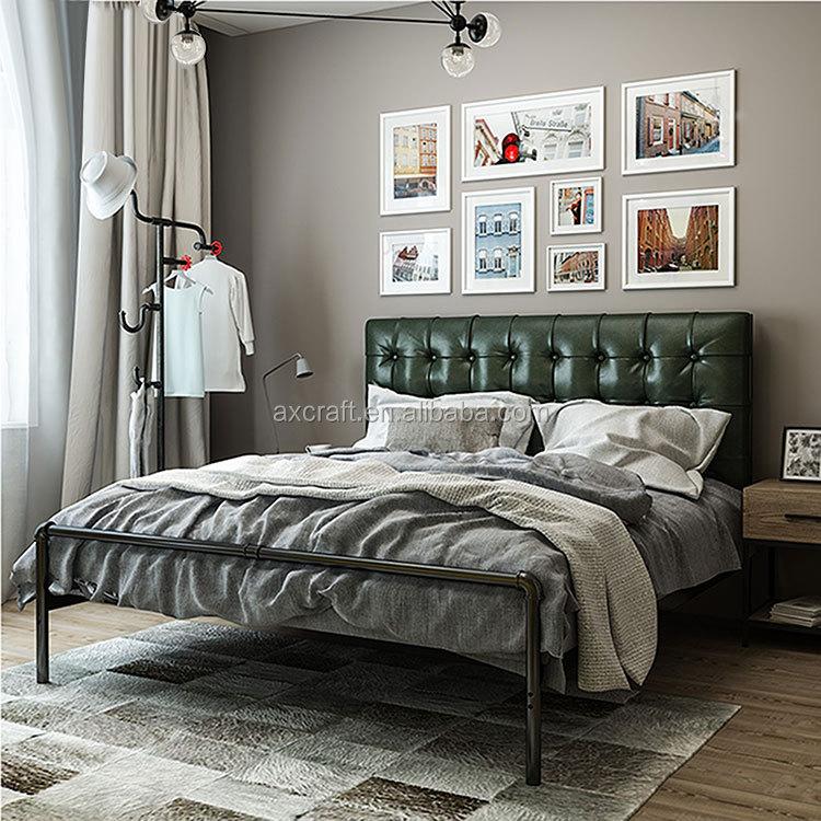 Venta al por mayor camas modernas de cuero-Compre online los mejores ...