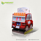 Creative Car Shaped Cardboard Display for bottle items retails