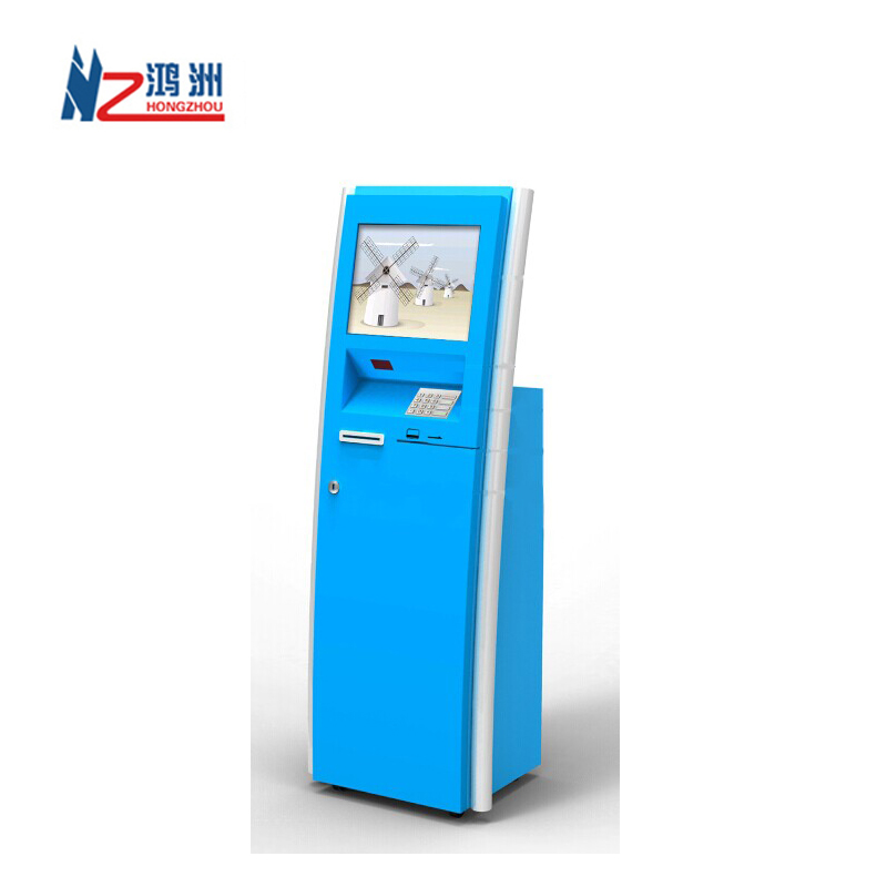Self service coin-operated kiosk with printer with queue management