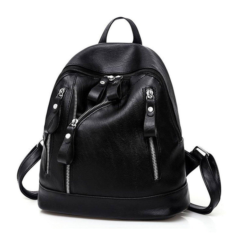 Susie Zechariah Brand Women Backpacks Fashion Causal Bags Bead Female Shoulder Bag Pu Leather Backpacks For Girls
