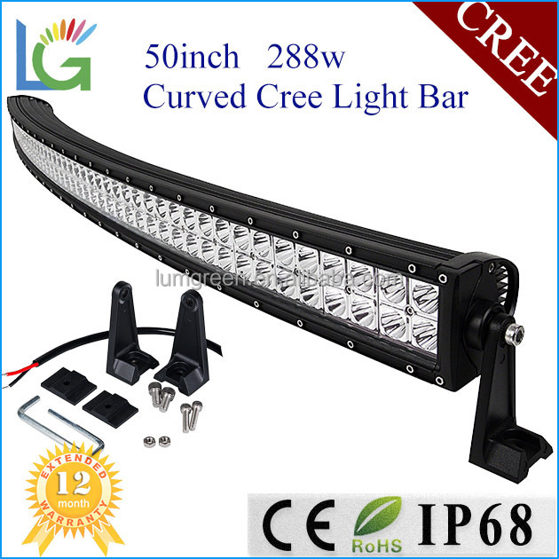 Diy Led Auto Lamp 12v Offroad 288w Light Bar Led Cree Chip 50inch ...
