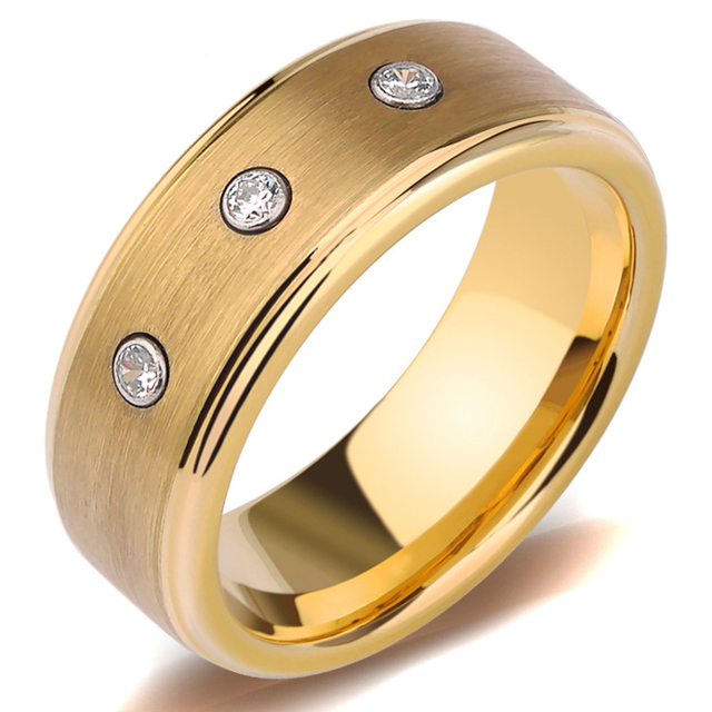 4mm 6mm mens <strong>rings</strong> tungsten blank <strong>ring</strong> 18k gold with stones