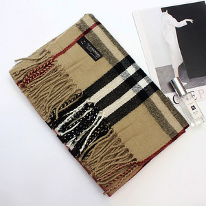 fashionable design winter thick warm scottish cashmere scarf