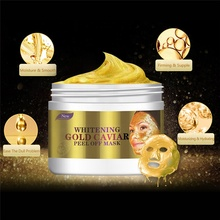 Aichun Beauty 24 พัน Gold Caviar Peel Off Face Mask Anti Wrinkle Whitening Facial Mask 150 มิลลิลิตร