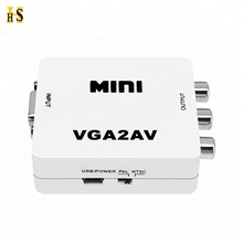 Mini VGA to AV RCA Converter with 3.5mm Audio for HDTV PC