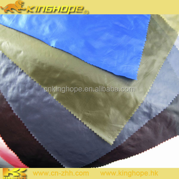 Rock bottom price golden coated polyester taffeta waterproof fabric