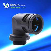 Right Angle plastic flexible hose union elbow connector