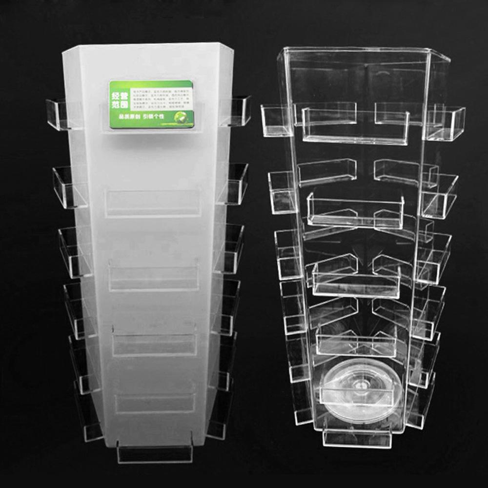 Pentagon 30 Pockets Rotating Acrylic Business Card Display Rack ...