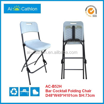 Cheap Bistro High Top Folding Chair Bar Height Foldable Plastic Chair
