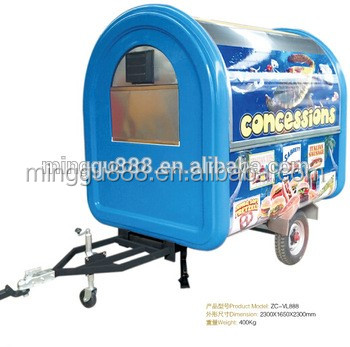 towable china mobile food cart Customized Products shanghai food vending van grilled sausage machine for Burma