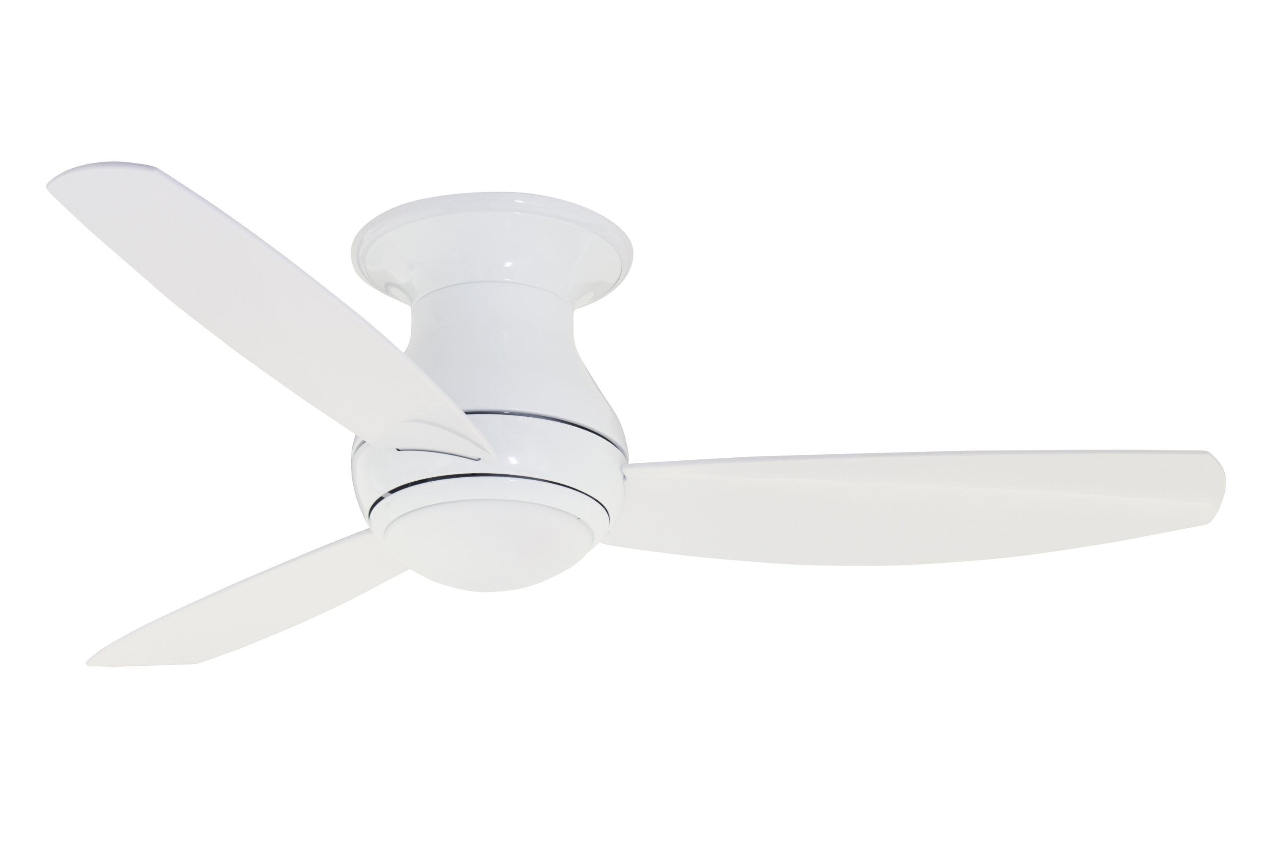 Emerson Ceiling Fans Cf152ww Curva Sky 52 Inch Modern Low Profile Hugger Indoor Outdoor Fan With Light And Remote Wet Rated Appliance White Finish
