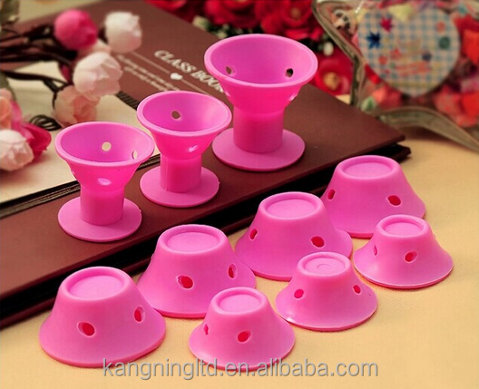 Silicone No Clip Pink Hair Curlers Rollers DIY Magic Spiral Curling Curl Styler Hair Styling Tools