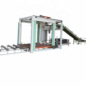 automatic fast speed woven bag palletizer machine for stacking 20-50kg bags in pallet