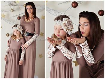 9c4608c6dee391 2015 mode mama en me maxi jurk lente zomer katoenen jurk moeder dochter  lange jurk