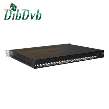 Convert satellite to terrestrial 12 tunters dvb-s to dvb-t transmodulator with 4 rf frequencies out