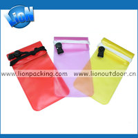 Transparent PVC waterproof mobile bag,camera waterproof bag
