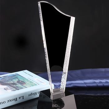 New Design Crystal Trophy Award,Crystal Golf Trophy as business gifts