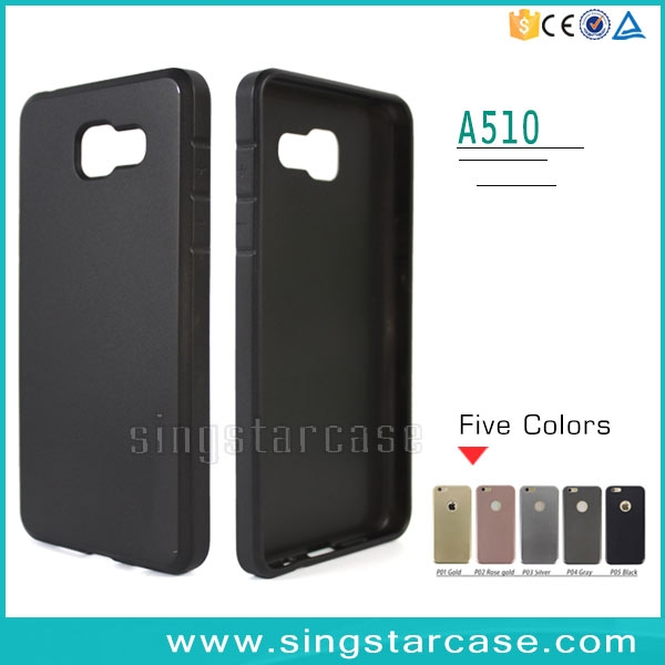 Factory Price Thickened Metallic Paint Skin 2MM TPU Cell Phone Case For Samsung Galaxy A310 A510 A710