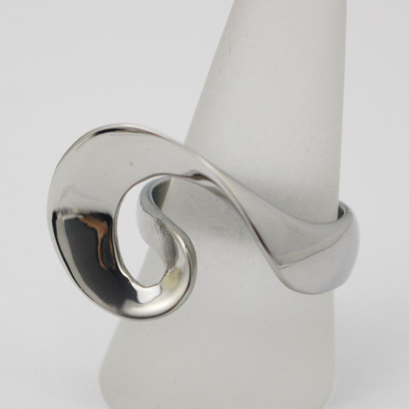 Make Your Own Design Ring Jewelry Novel Stainless Steel Irregular Ring Women Silver Cocktail Party Finger